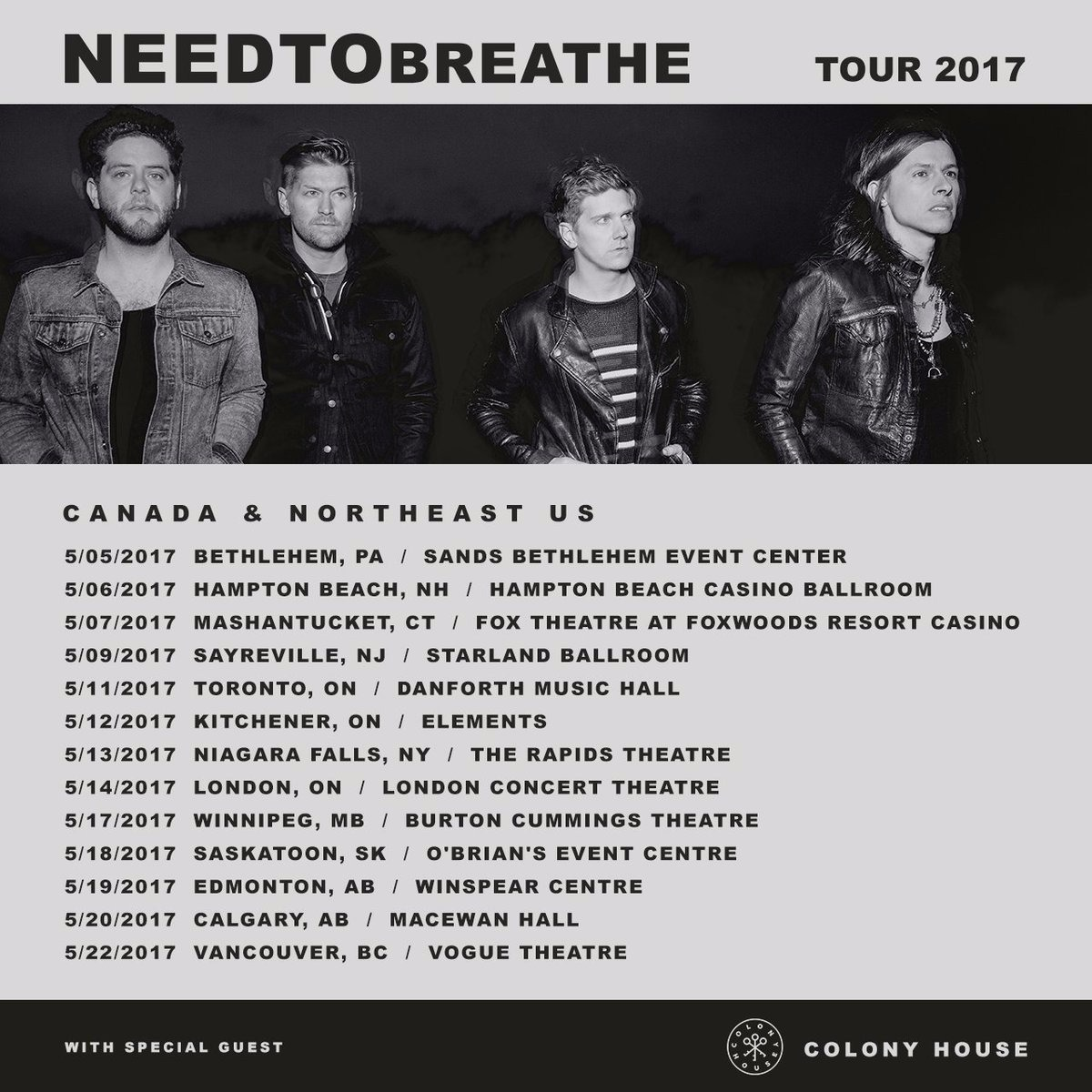 Needtobreathe at Danforth Music Hall