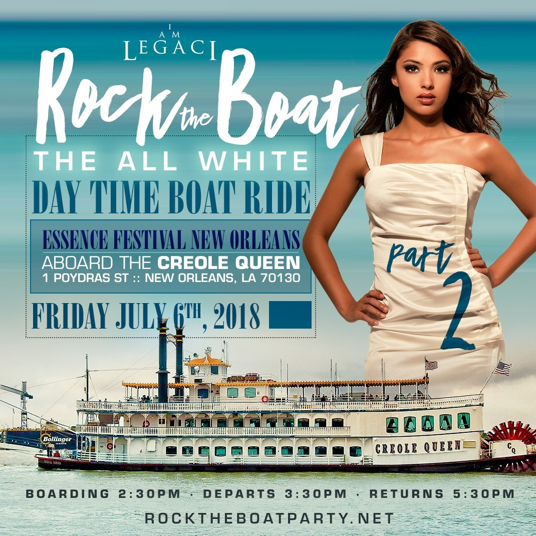 ROCK THE BOAT pt. 2 THE 2018 ALL WHITE DAY TIME BOAT RIDE PARTY DURIN