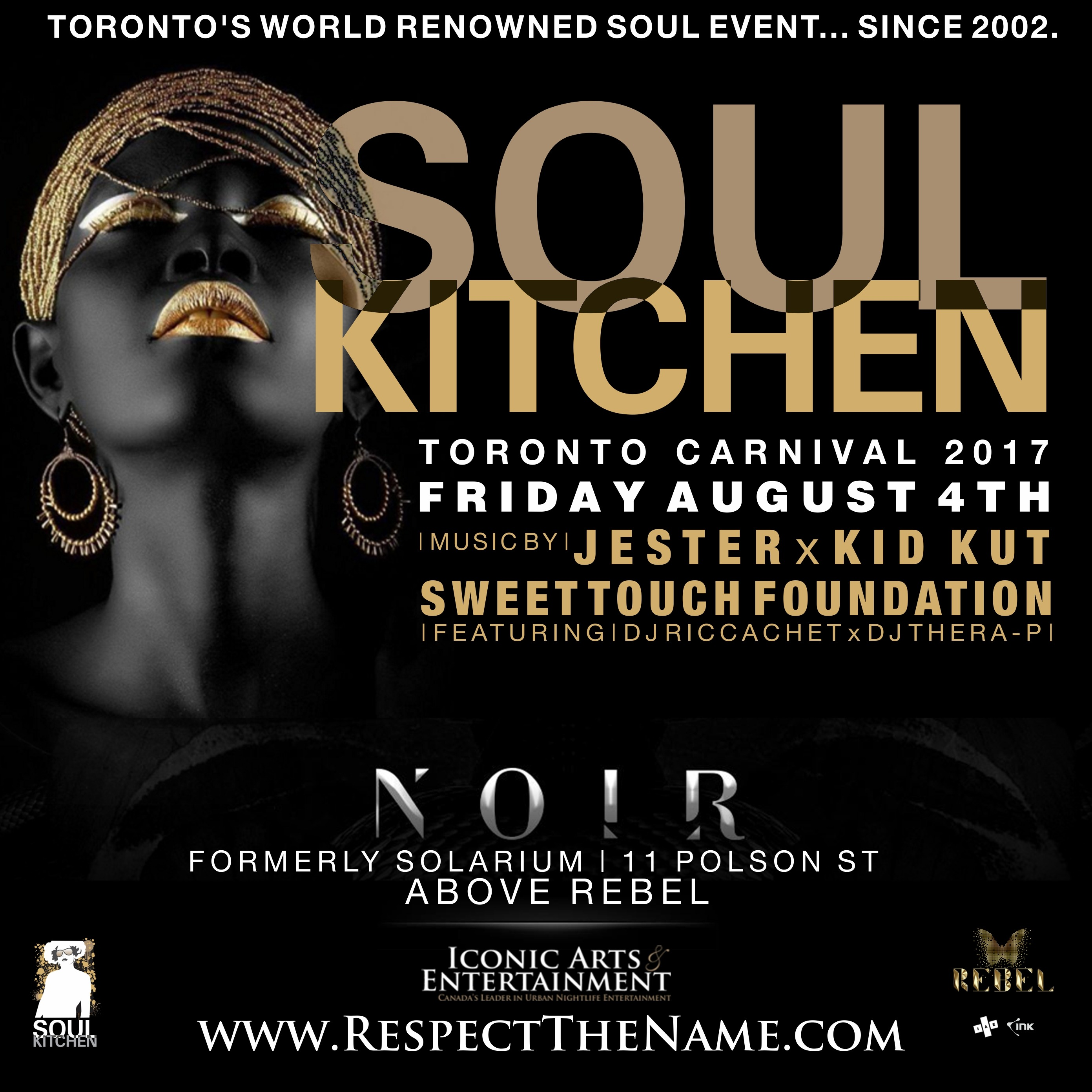 SOUL KITCHEN - CARNIVAL EDITION 2017 | FRIDAY AUGUST 4TH 2017 | NOIR