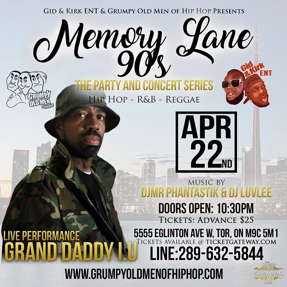 Memory Lane 90's Featuring Grand Daddy I.U