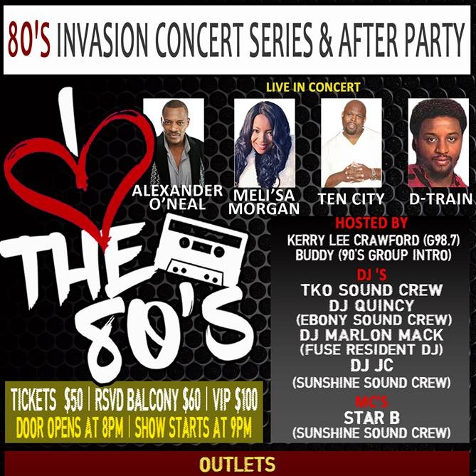 80'S INVASION CONCERT SERIES & AFTER PARTY