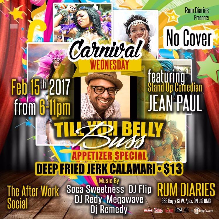 Carnival Wednesday Till Yuh Belly Buss