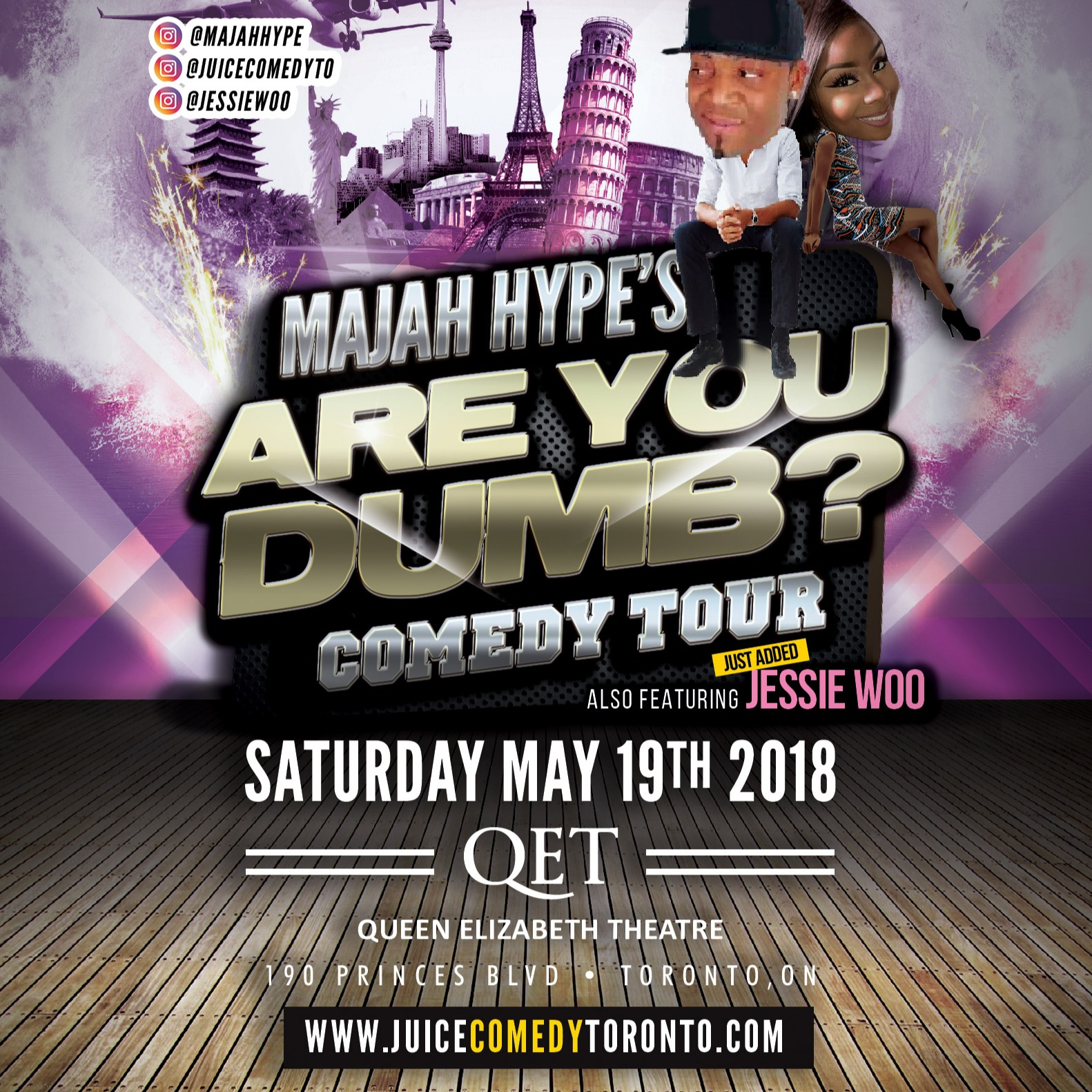 JUICE presents Majah Hype's 'ARE YOU DUMB?' Comedy Show