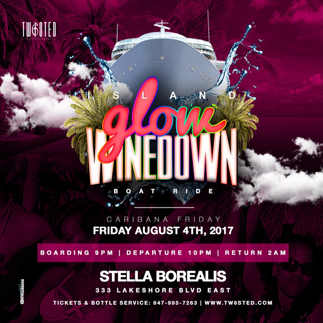 Island GLOW Winedown: Boat Cruise Edition | Caribana Friday | August 4th