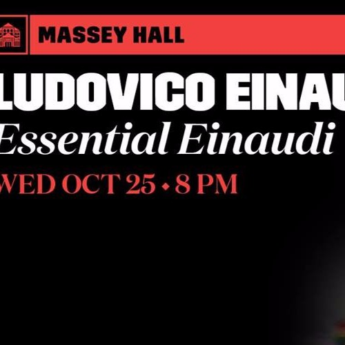 Ludovico Einaudi at Massey Hall