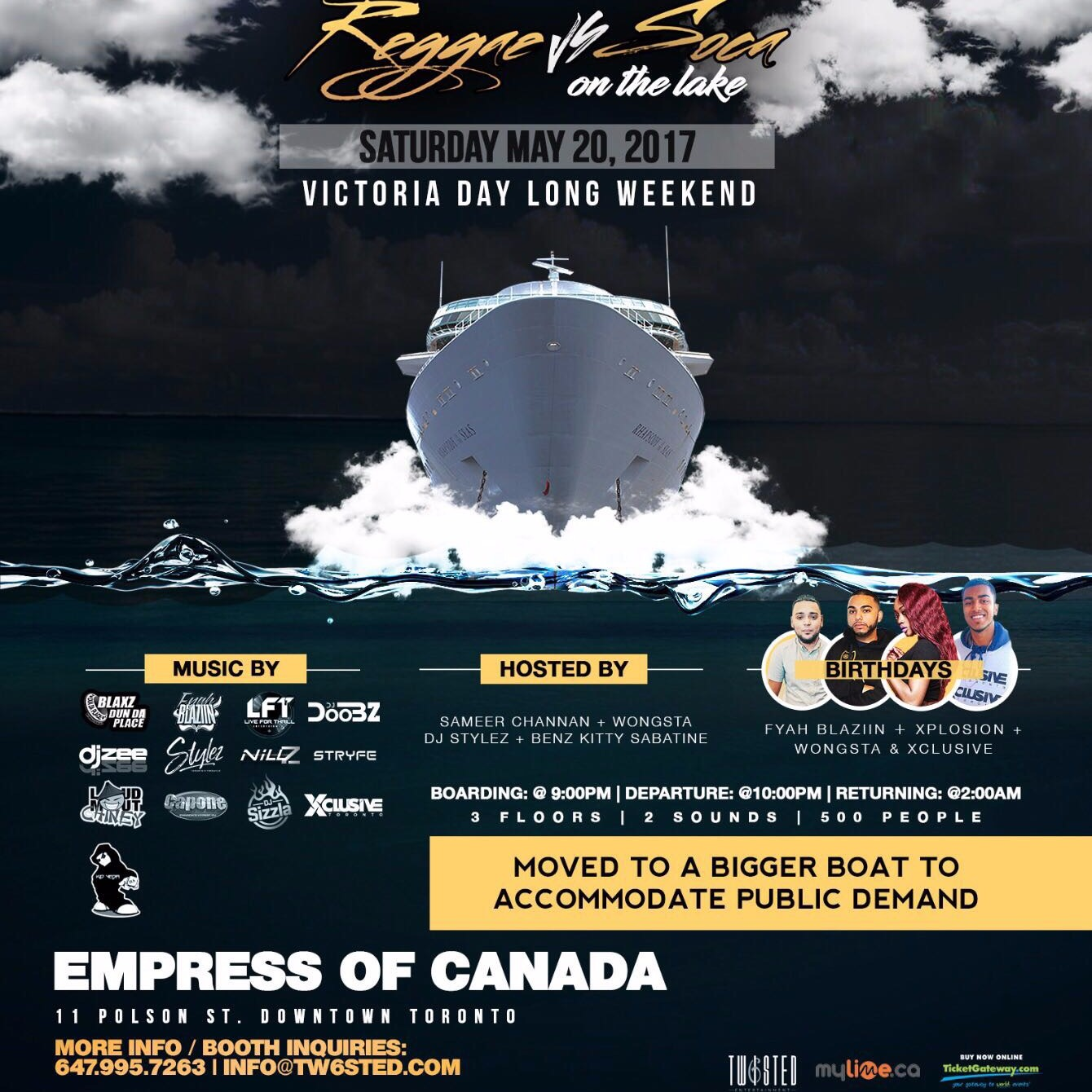 Reggae VS Soca On The Lake  - Victoria Day Long Weekend - May 20th 2017