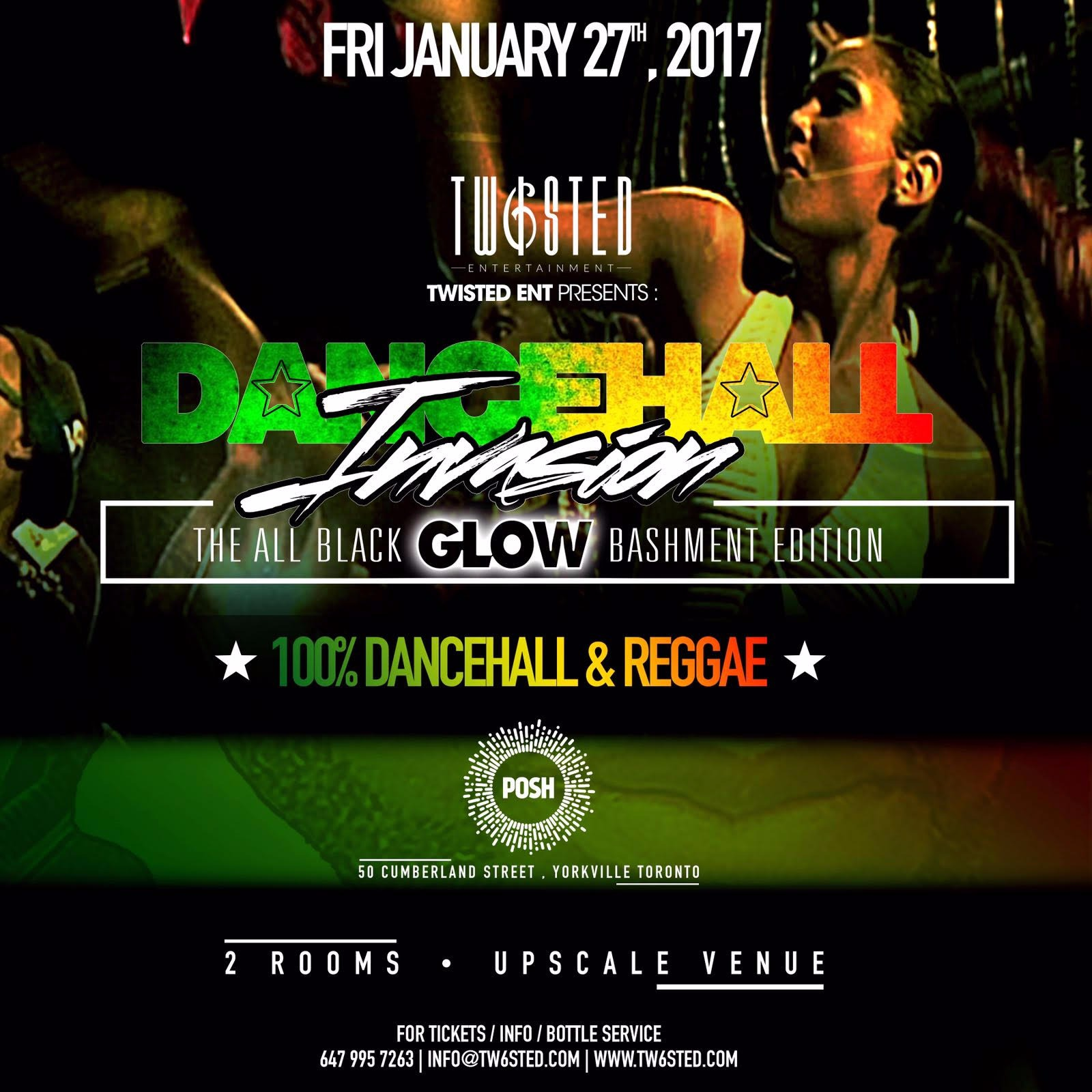 DANCEHALL INVASION All black GLOW Bashment | 100% Reggae | Jan 27th 2016