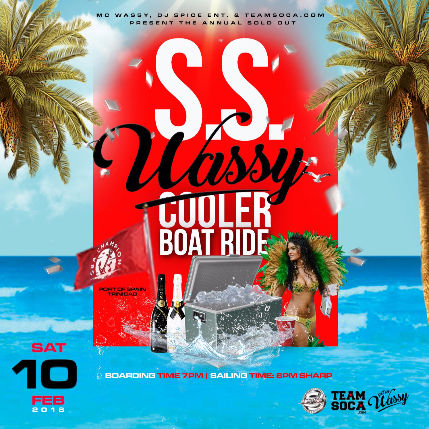 SS Wassy Cooler Boatride 2018