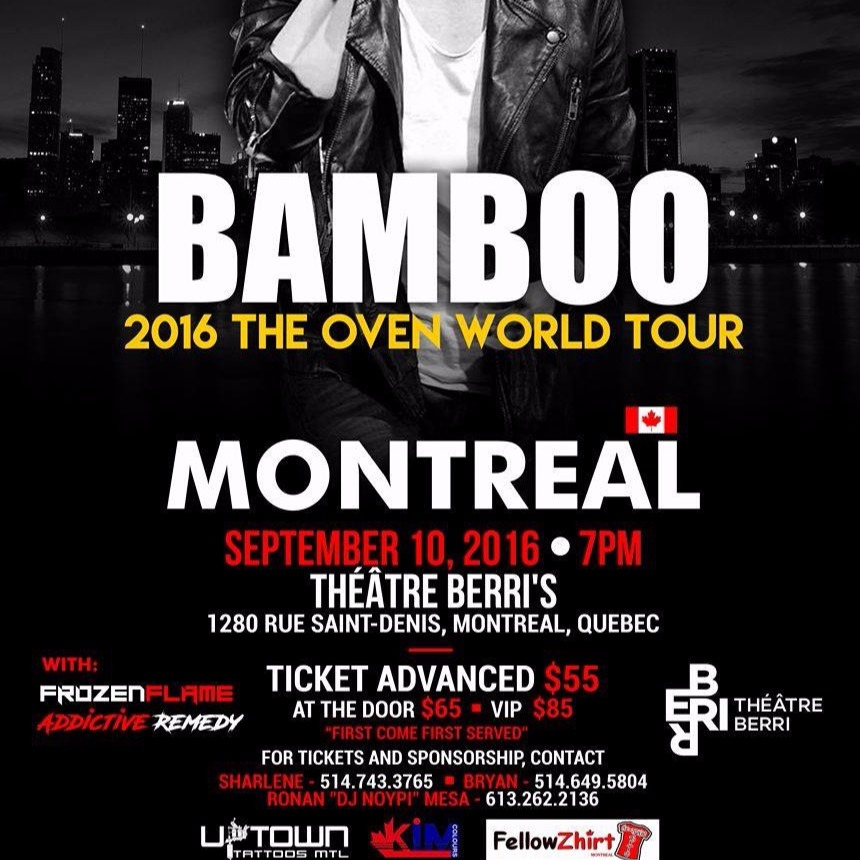 Bamboo Live Concert in Montreal