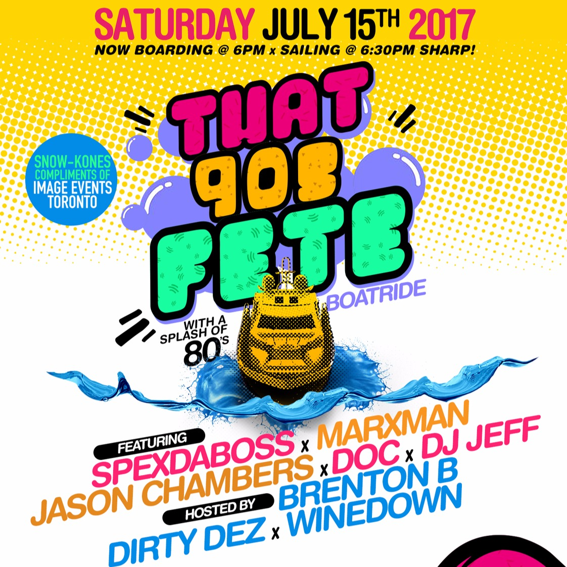 THAT 90s FETE BOAT RIDE 2017