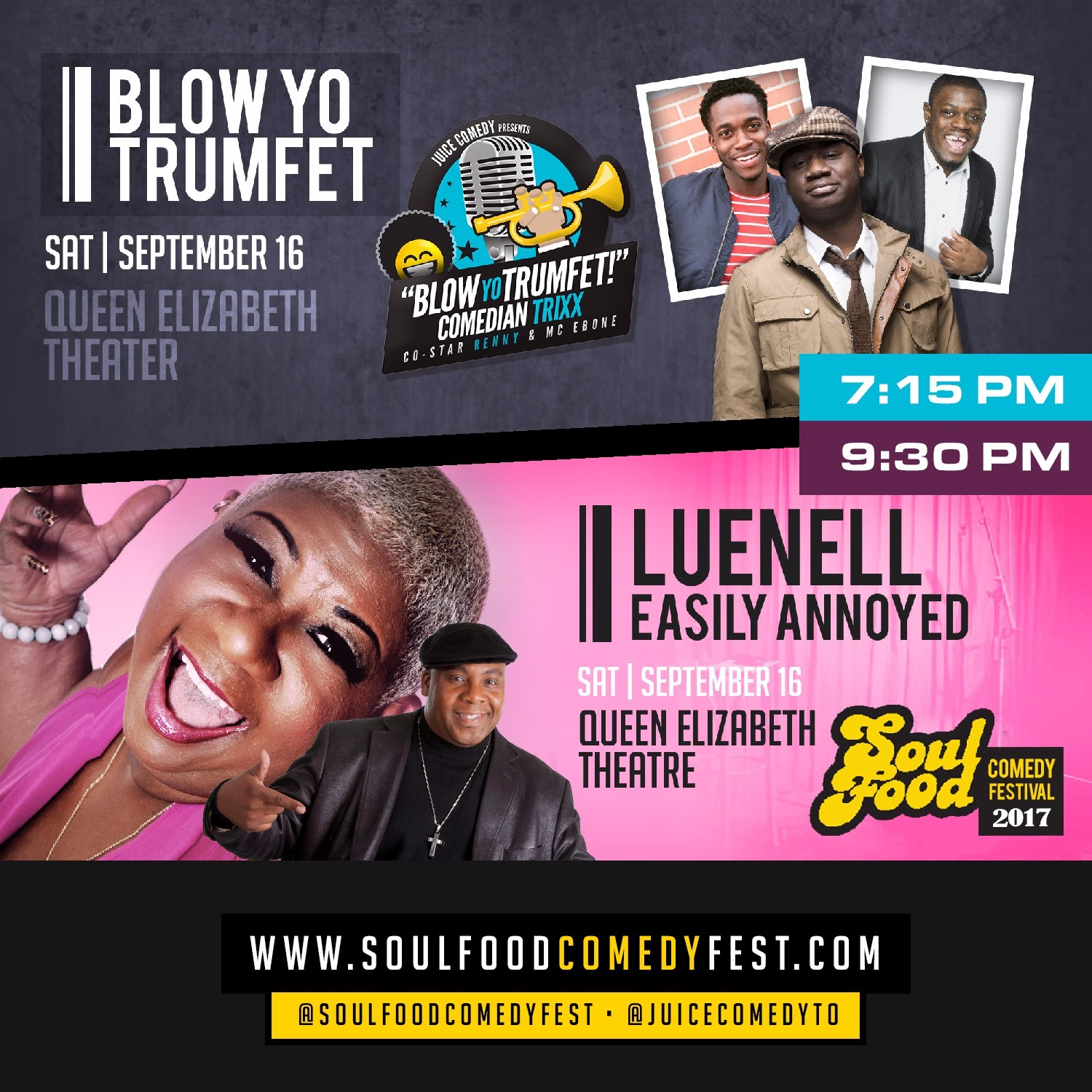 DBL Feature Saturday feat Trixx & Renny PLUS Luenell & Jay Martin (Soul Food Comedy Festival 2017)