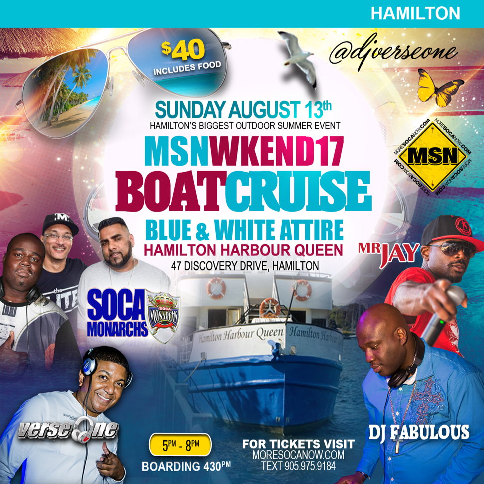 More Soca Now 2017 - Boat Cruise