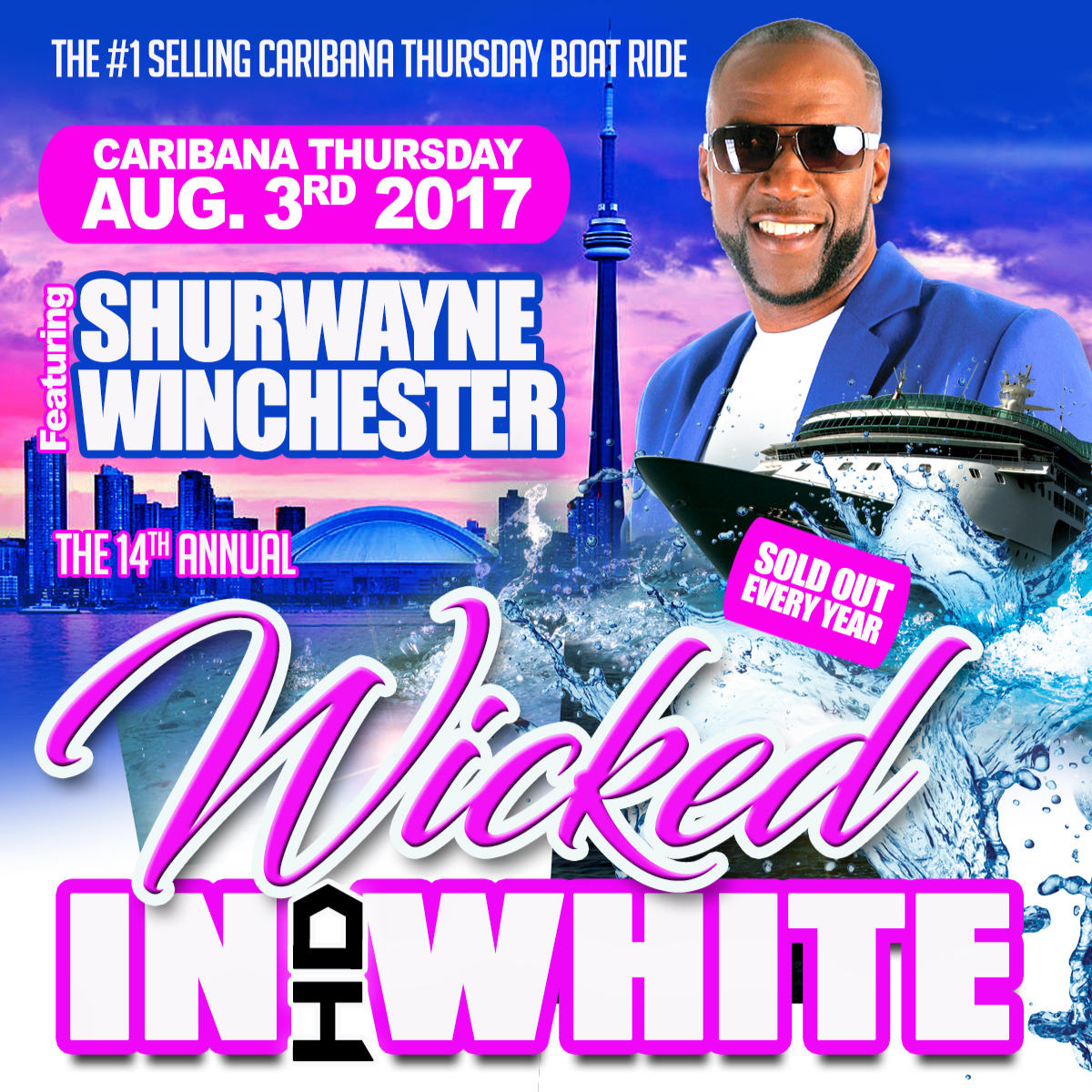 WICKED IN WHITE BOAT RIDE