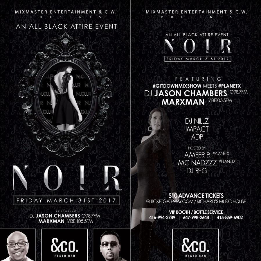 NOIR - AN ALL BLACK ATTIRE EVENT