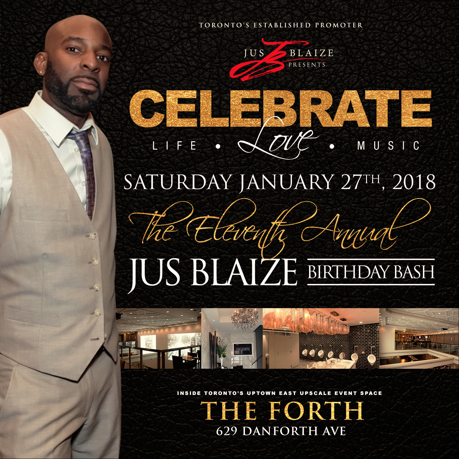 CELEBRATE: Life . Love . Music - The 12th Annual JUS BLAIZE B-Day Bash