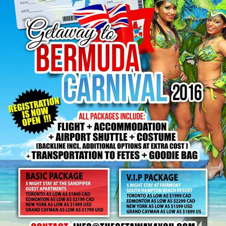 GETAWAY TO BERMUDA CARNIVAL 2016