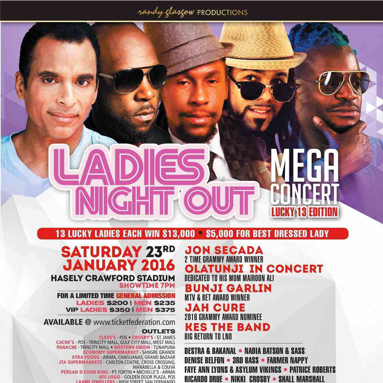 LADIES NIGHT OUT - MEGA CONCERT 2016