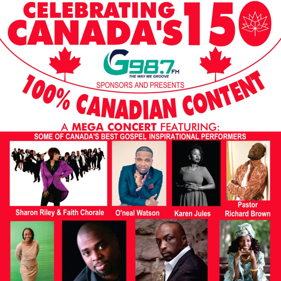 Celebrating Canada's  150 G987fm sponsor & presents a mega concert