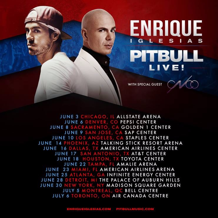 Enrique Iglesias & Pitbull Live! with CNCO at Air Canada Centre