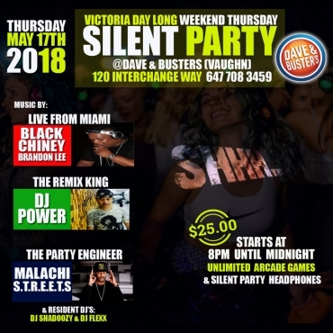 Silent Party Thursdays at Dave & Busters