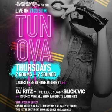 TUN OVA THURSDAYS LIVE TO AIR ON Z103.5 INSIDE SUGAR DADDYS