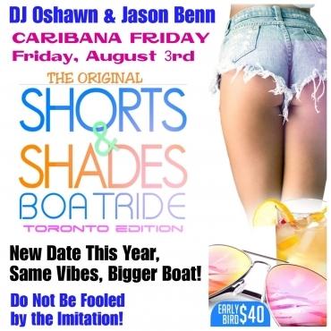 Shorts and Shades Boatride Toronto 2018