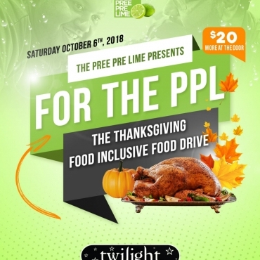 For The Ppl - Food Inclusive Food Drive Thanksgiving Long Weekend Saturday