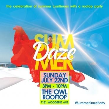 SUMMER DAZE - ROOFTOP PATIO PARTY