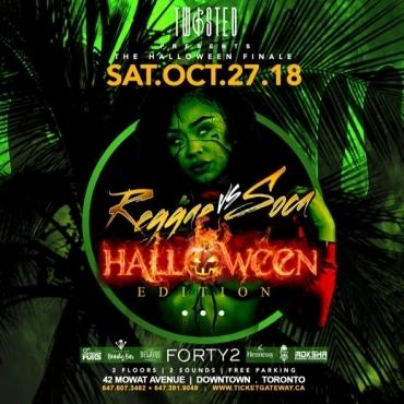 Reggae Vs Soca: Halloween Edition   Sat Oct 27th   42 Supperclub