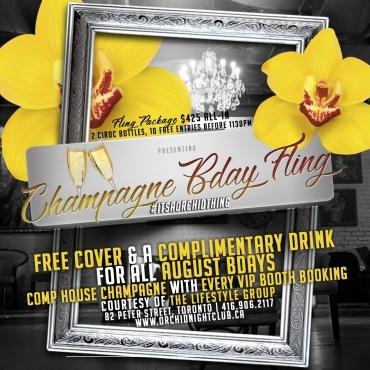 Fling Fridays -Champagne Bday Fling