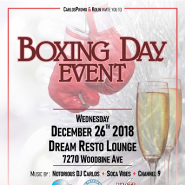 Carlos Promo and Kolin's -- Boxing Day Event