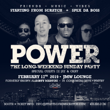 POWER -  THE LONG WEEKEND SUNDAY PARTY