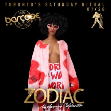 Barcode Saturdays Zodiac Party