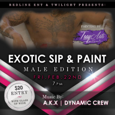 Exotic Sip And Paint - Male Edition
