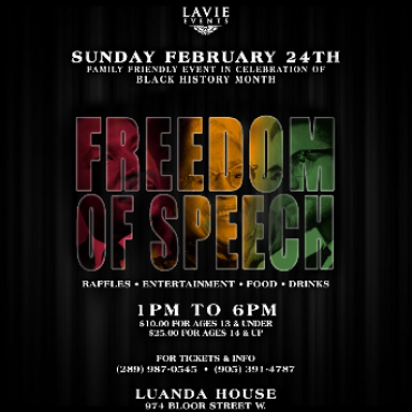 Freedom of Speech - Black History Month Event