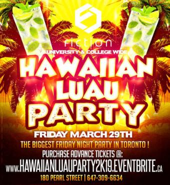 Hawaiian Luau Party @ Fiction Nightclub | Friday March 29th