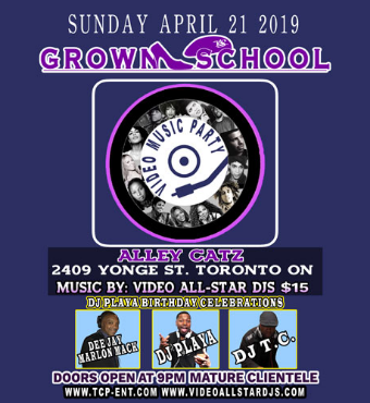 GROWN SCHOOL VIDEO MUSIC PARTY APRIL 21 2019