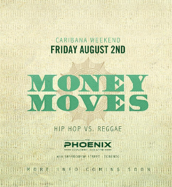 MONEY MOVES CARIBANA FRIDAY HIP HOP VS REGGAE