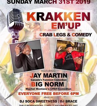 Krakken Em Up ~ Crab Legs & Comedy