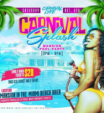 Carnival Splash Mansion Pool Party 2019