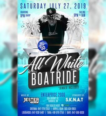 Sknat Annual Boat Ride -all White-2019