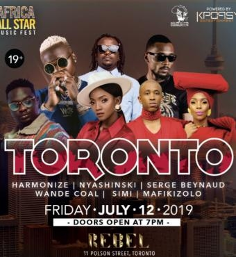 Africa All Star Music Fest Mafikizolo Wande Coal H...
