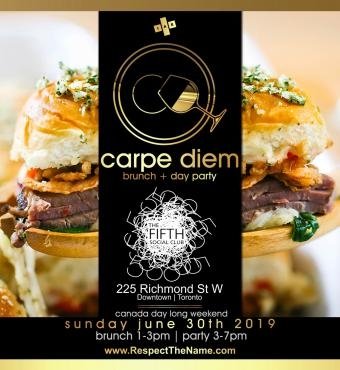 CARPE DIEM - Brunch & Day Party - Canada Day Edition