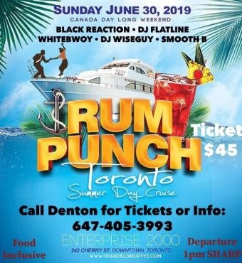 Rum Punch Summer Day Cruise