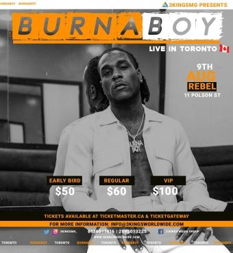 BURNA BOY LIVE IN TORONTO