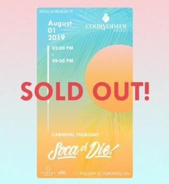 Soca Or Die - Carnival Thursday SOLD OUT!