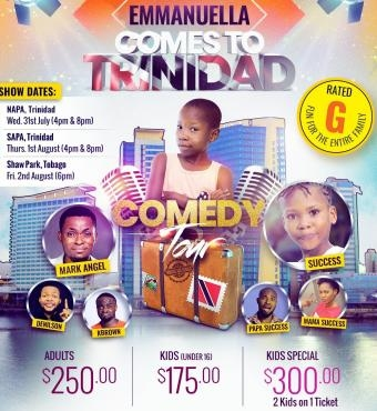 Comedy Tour | Emmanuella - Comes To Trinidad! 31st July 2019
