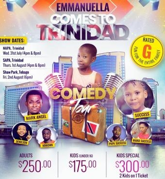 Comedy Tour | Emmanuella - Comes To Trinidad! 1st August 2019