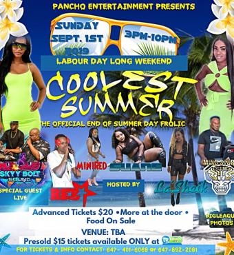 COOLEST SUMMER - LABOUR DAY LONG WEEKEND 2019