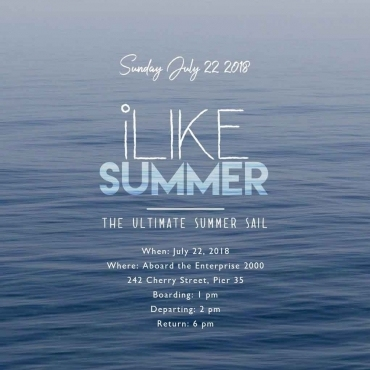 iLike returns to the water for the ULTIMATE SUMMER SAIL!